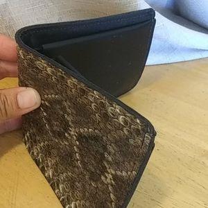 Rattlesnake skin wallet